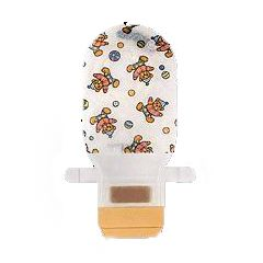 Assura AC 2-Piece Pediatric EasiClose Ileostomy Bags - Opaque, Teddy Bear Design