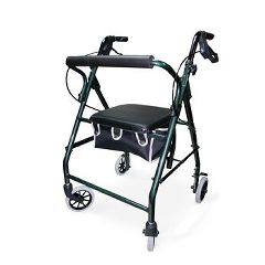 Cardinal Health Soft Seat Aluminum Rollator with Straight Backrest