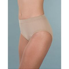 Wearever Women's Smooth and Silky Seemless Full Cut Incontinence Panties Beige