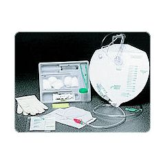 Bardex Catheter Insertion Tray 16Fr 100% Silicone Cath w/Anti-Reflux Chamber Drainage Bag