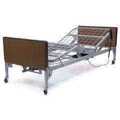 Lumex Patriot Semi-Electric Bed with Fiberboard Decorative Walnut Bed Ends