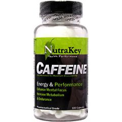 Nutrakey Caffeine Sports Supplement 100 Capsules
