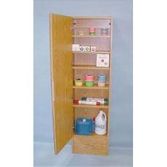 Clinton Industries Cabinet With Mirror-Oak