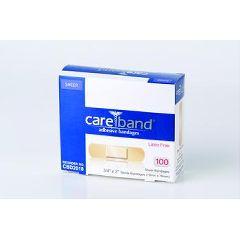 "CAREBRAND CAREBAND  Sheer Adhesive Strips - 3/4"" x 3"""