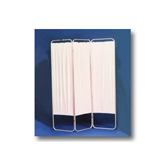 """AliMed Nonmagnetic Folding Privacy Screen Standard, 4 Panel, 19""""W Folded; 62""""L Extended"""