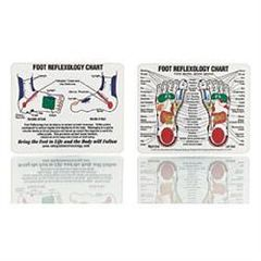 "Claire Marie Miller Seminars Mini Foot Reflexology Chart 4""X5"""