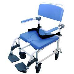 Healthline 185 Aluminum Shower Commode Chair - Bariatric