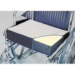"AliMed Foam Wheelchair Wedge Cushion, 18"" x 16"" x 4"" to 2"""