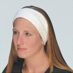 "Stylist Wear White Terry Velour Headband 3.5"" Wide 3 Pack"