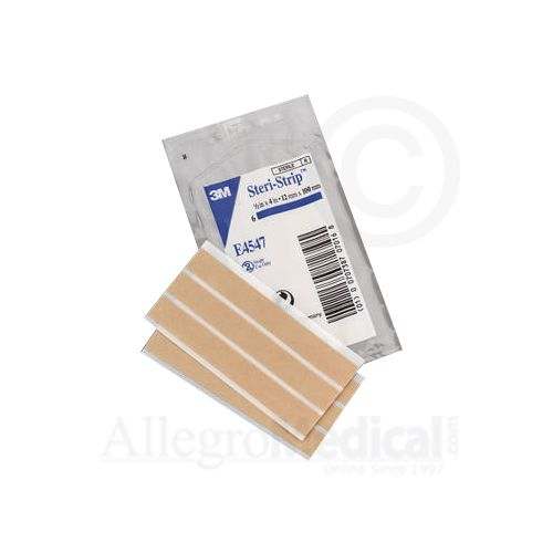"Steri-Strip 3M Steri-Strip Elastic Skin Closures - 1/2"" x 4"" - 6 strip envelope"
