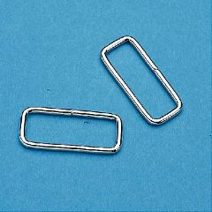 "Sammons Preston Rectangular Loop Metal D-Rings 2"" Nickel Plated"