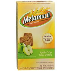 Metamucil Apple Crisp Wafer Fiber Supplement