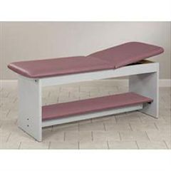 Clinton Industries Straight Line Treatment Table W/Full Shelf & Adjbk
