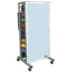 Ideal Medical Products Deluxe Weight Storage Rack W/Mirror - Mobile