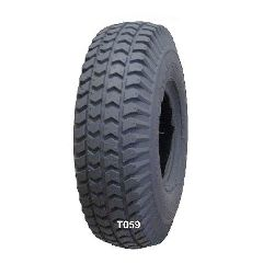 "New Solutions Gray Pneumatic Knobby (Power Trax) Tire - 260 x 85"" (300-4)"