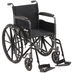 "Drive Silver Sport Wheelchair 18"" Wide x 16"" Deep"