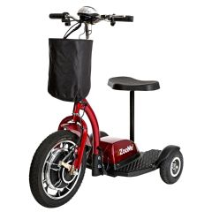 Drive ZOOME3 Recreational Scooter, 10AH, Red