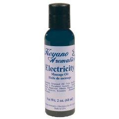 Keyano Aromatics Keyano Aromatherapy Massage Oil 2 Oz Electricity