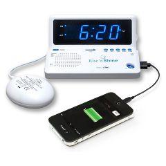 Sonic Alert Rise 'n Shine Travel Alarm Clock Bed Shaker
