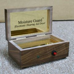 S & S Hearing Aid Maintenance Products Moisture Guard Walnut Electronic Hearing Aid Dryer
