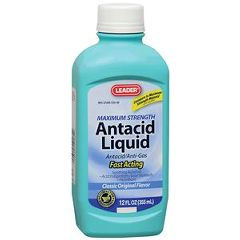 Cardinal Health Leader Maximum Strength Antacid/Antigas Suspension