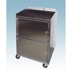Ideal Medical Products Stainless Cart With Dual Locking Cabinets