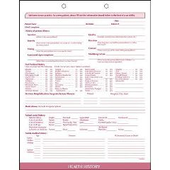 Ifs Filing Systems Llc Health History Form, 100/Package