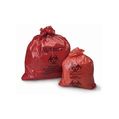 Medical Action Biohazard Waste Bag -  Red/Black