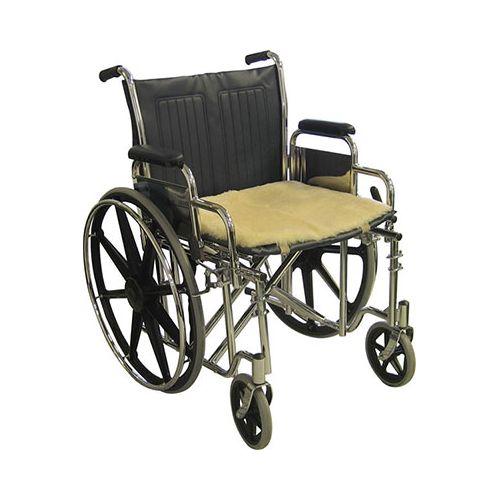 "Sheepskin Ranch Medical Sheepskin Wheelchair Seat Pad - 18"" x 16"" Model 837 0044"