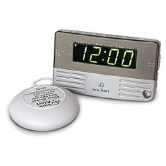 Travel Size / Bedside Sonic Boom Alarm Clock - with Bed Shaker