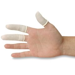 Graham Field Finger Cots - White Latex Finger Cots - Rolled & Pre-Powdered