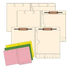 Integrated Filing Solutions 11 Pt Pocket Folders With One Fastener, 50/Box