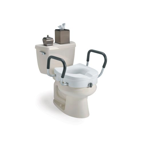 Invacare Clamp-On Raised Toilet Seat with Arms Model 178 5093