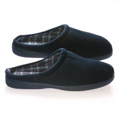 Deluxe Comfort Male Velvet Vamp With Cotton Lining Memory Foam Slippers