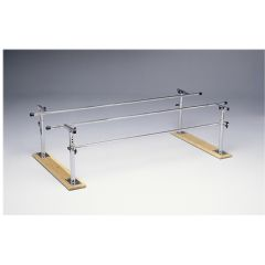 Parallel Bars, Wood Base, Folding, Height And Width Adjustable, 7 Foot Long
