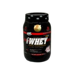 Optimum Nutrition 100% Whey, Instantized, Delicious Strawberry - 2 lbs