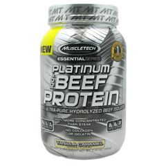 Essential Series Muscletech Essential Series 100% Platinum Beef Protein - Vanilla Caramel