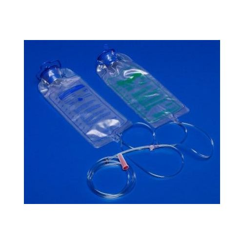 Kangaroo ePump 1000 mL Feed Set w/ 1000mL Flush Set - Non-Sterile Model 169 0289