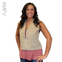 """Kool Max Cooling Fashion Vest with Five 4.5"""" x 6"""" Cooling Packs"""