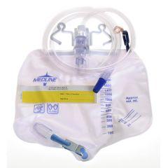 Premium Urinary Drain Bag w/ Anti-Reflux Device - 2000cc, Sterile