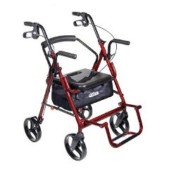 Drive Medical Duet Transport Chair & Rollator Combo