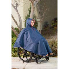 CareActive Wheelchair Winter Rain Poncho - Sherpa Lining
