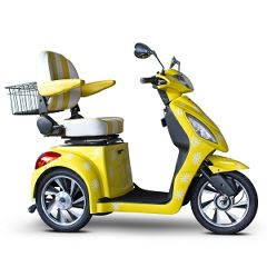 E Wheels EW-82 Custom Happy Day Yellow 3 Wheel Mobility Scooter