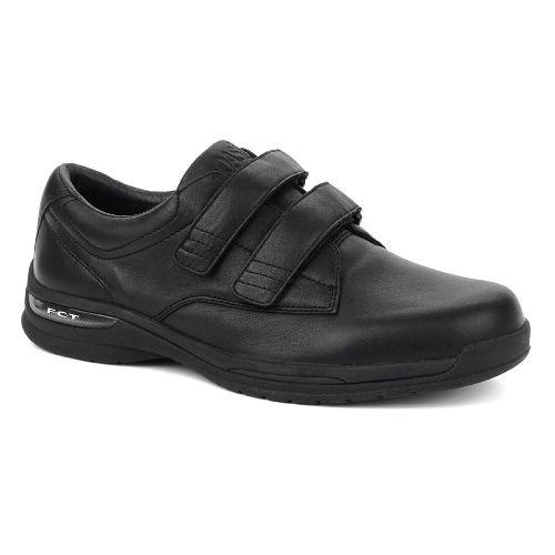 Oasis Footwear Oasis Men's  Nevis Hook & Loop Black Diabetic Shoe