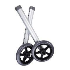 """McKesson Universal 5"""" Walker Wheels with Rear Glides"""