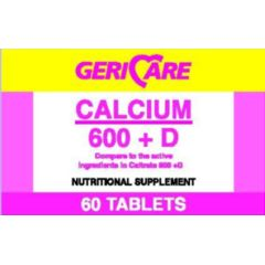 Geri-Care Pharmaceuticals Calcium - 600 mg Plus D