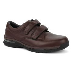 Oasis Footwear Oasis Men's  Nevis Hook & Loop Brown Diabetic Shoe