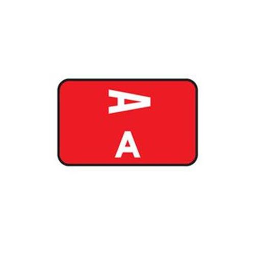Patterson Office Supplies Laminated Alpha Labels Complete Set Model 787 0288