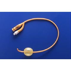 pureGold Coude PTFE-Coated Latex Foley Catheter 2-way, 30cc