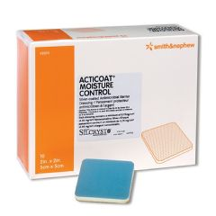 "Smith & Nephew Acticoat Moisture Control Absorbent Silver Dressing 2"" x 2"""